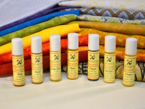Fabrics with Chakra Oils
